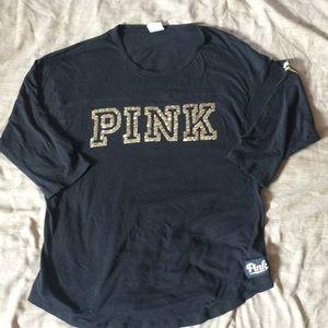 Pink black 3/4 shirt
